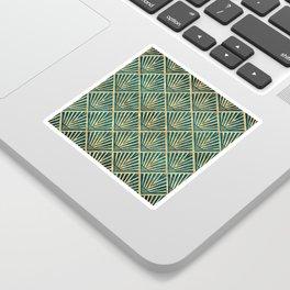 Stylish geometric diamond palm art deco inspired Sticker
