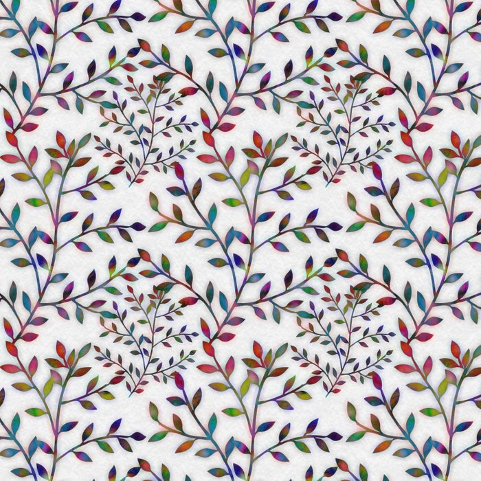 Small, Colorful Leaves  Duvet Cover