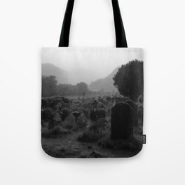 Foggy Graveyard... | Halloween Art | Tote Bag