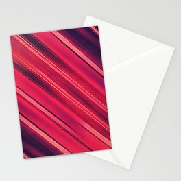 Moder Red / Black Stripe  Abstract Stream Lines Textuer Design Stationery Cards