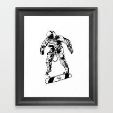 Astro-Skater Framed Art Print