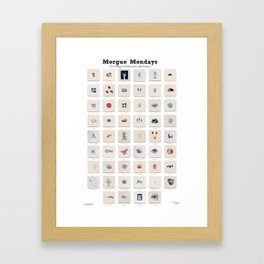 Morgue Mondays: 52 Weeks of Human Body Watercolor Paintings Framed Art Print