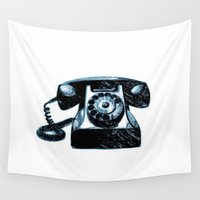 telephone Wall Tapestries featuring Old Telephone by Mr and Mrs Quirynen