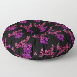 Rising From The Ashes  Phoenix Lilac Pink Ombre Floor Pillow