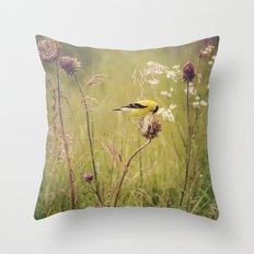 Life in the Meadow Throw Pillow