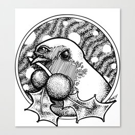 Third Eye Red Robin - Alternative Christmas Canvas Print