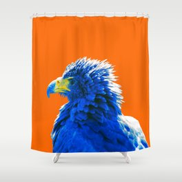 Plucky plumage Shower Curtain