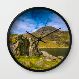 Summer in Snowdonia, Wales Wall Clock