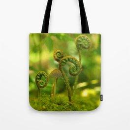Mushroom In The Ferns... Tote Bag