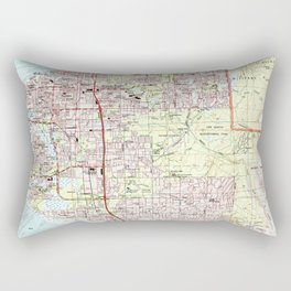 Anchorage Alaska Map (1994) Rectangular Pillow
