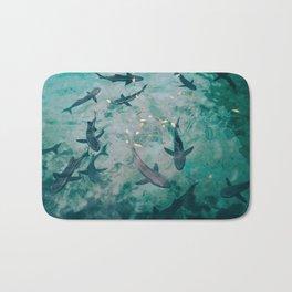 Shoal of Sharks (Color) Bath Mat