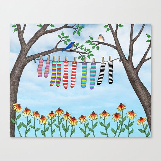 clean socks Canvas Print