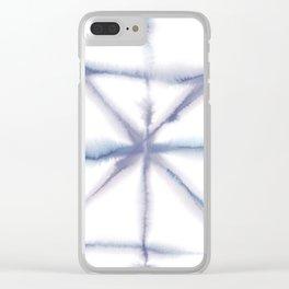 Light Dye - Folding Blues Clear iPhone Case