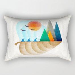 074 - Autumn leaf minimal landscape II Rectangular Pillow