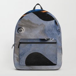 Digital Lanscape In Blue Backpack