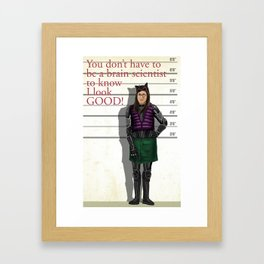Amy Catwoman Framed Art Print