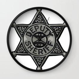 Deputy Sheriff Badge Wall Clock
