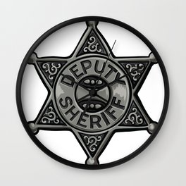 Deputy Sheriff Badge Wall Clock