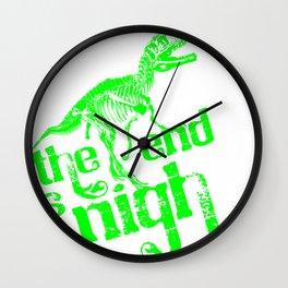 The End is Nigh Dinosaur Wall Clock