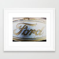 ford Framed Art Prints featuring Ford by Sarah Welch
