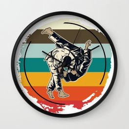 Sparring Athletes Wall Clock
