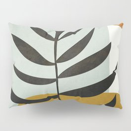 Soft Abstract Large Leaf Pillow Sham