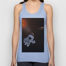 Astronaut And Sun Unisex Tank Top