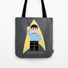 Live Long and Prosper  (Lego Spock - Star Trek) Tote Bag