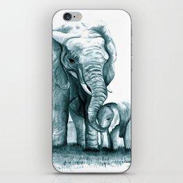 My Little Peanut (Elephants) iPhone Skin