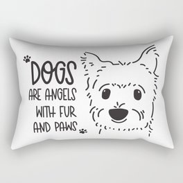 Dogs are Angels Rectangular Pillow