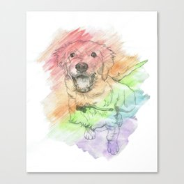 Golden Retriever Puppy Drawing Canvas Print