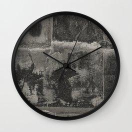 Rusted Metal Plates - B&W Wall Clock