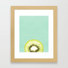 Kiwi, Fruit, Kitchen, Modern art, Tropical, Art, Minimal, Wall art Print Framed Art Print