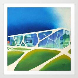 Glass Cube. Art Print
