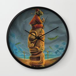 Koshi Greets The Storm Wall Clock