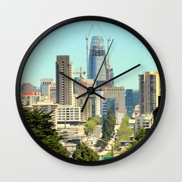 The Salesforce Tower Pre - View Wall Clock