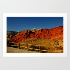 Red Rock Art Print
