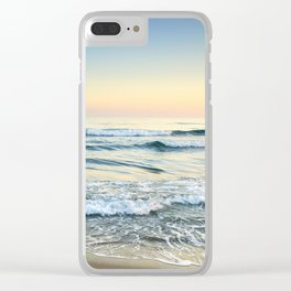 Serenity sea. Vintage. Square format Clear iPhone Case
