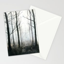 fog among the trees Stationery Cards