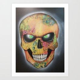 Mrs. skull Art Print
