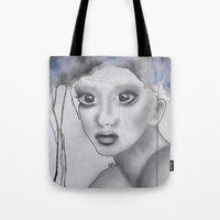 depression Tote Bags featuring Depression II by katimarco