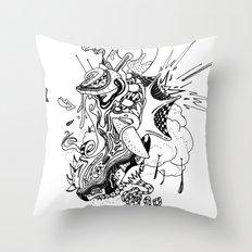 Ink Entanglement Throw Pillow