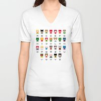 nightcrawler V-neck T-shirts featuring Superhero Alphabet by PixelPower