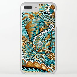 Topsy-Turvy Turtle Clear iPhone Case