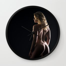Erotic Portrait Wall Clock