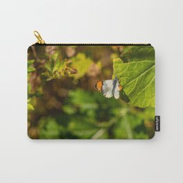 Anthocharis sara sara orange tip Butterfly on Leaf Carry-All Pouch