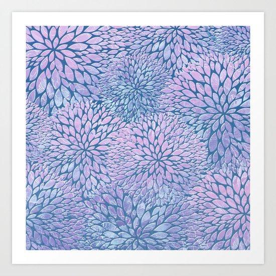 Frozen Petals Art Print