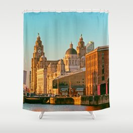Pier Head and the Albert Dock Shower Curtain