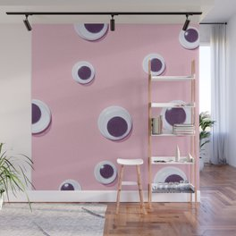 Eyes#pattern#pink Wall Mural