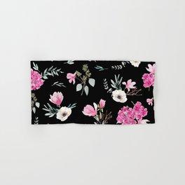 Magnolias, anemones, geranium and eucalyptus Hand & Bath Towel